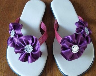 Flower Sandal- flip flops- beach sandals