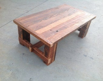 Reclaimed wood coffe table