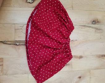 Tiny red polka dot baby skirt