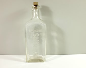 Vintage Watkins Medicine Bottle - Watkins apothecary glass bottle from the 40' - Pharmacy bottle