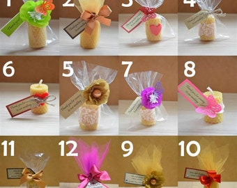 Wedding Gifts For Guests Wedding Beeswax Candle Favour Guest Gifts
