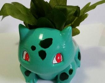 Hand painted 3d printed Bulbasaur planter!