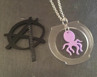 Octopus in a bowl necklace by AsBeAu