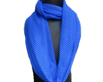 Infinity scarf/ loop scarf/ circle scarf/ tube scarf / blue scarf / net scarf/   gift ideas.