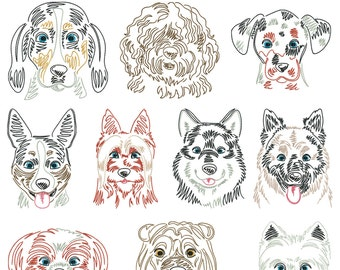 Dog breeds part 4 for the frame 10x10cm