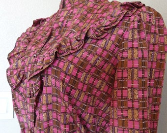 "Vintage 'Jebb Levy' Womens Blouse - Chest 38"" Length 25"" - Very Cute!!"