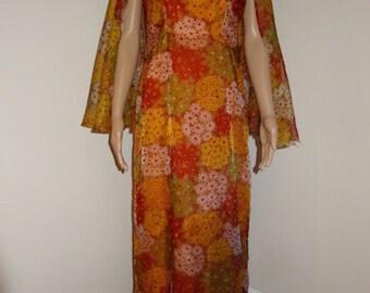 "Vintage 1960's Evening Dress - AMAZING!!!!!!! Chest 36"" (38 Max.) Length 55"""