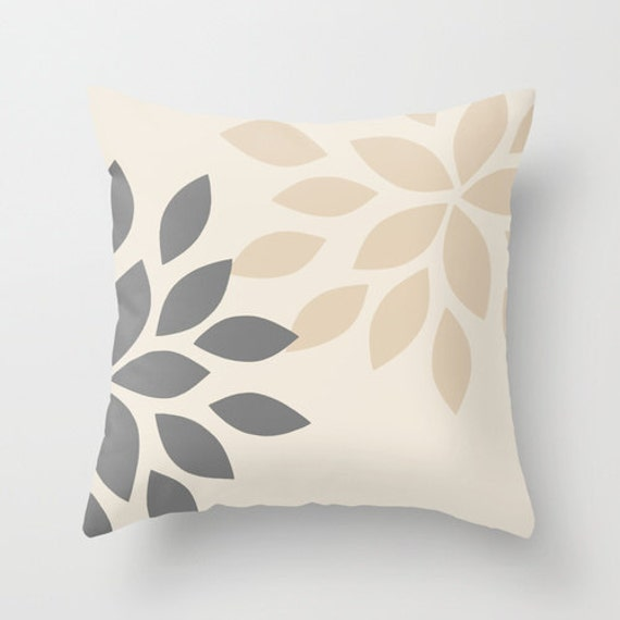 Throw Pillows Native American : Neutral Throw Pillow Cover 16x16 SALE Grey Pillow