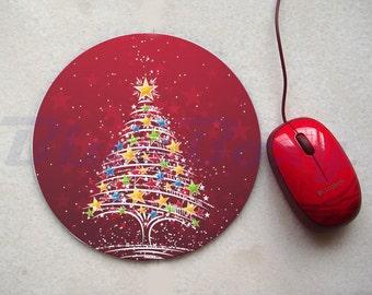 Christmas Tree Mousepad, Office Mousepad, Computer Mouse Pad, Fabric Mousepad