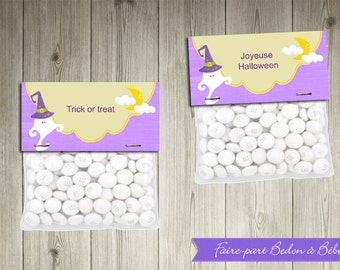 Halloween Treat Toppers - Printable party decorations - Halloween