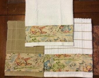 Winnie the Pooh Design 2- Set of 2 Hand Towels