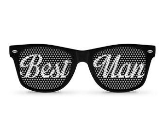 BEST MAN Black Retro Party Sunglasses