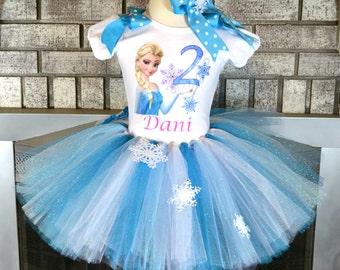 Frozen Tutu with Elsa Shirt, Frozen Tutu Dress, Elsa Tutu, Elsa Dress, Frozen Birthday, Elsa Birthday Set, Elsa Costume, Birthday Tutu Dress