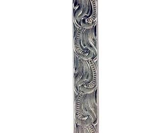 Nickle Silver Pattern Wire- Scroll 1.27x5.34mm- 3 Foot Piece (NPW303)