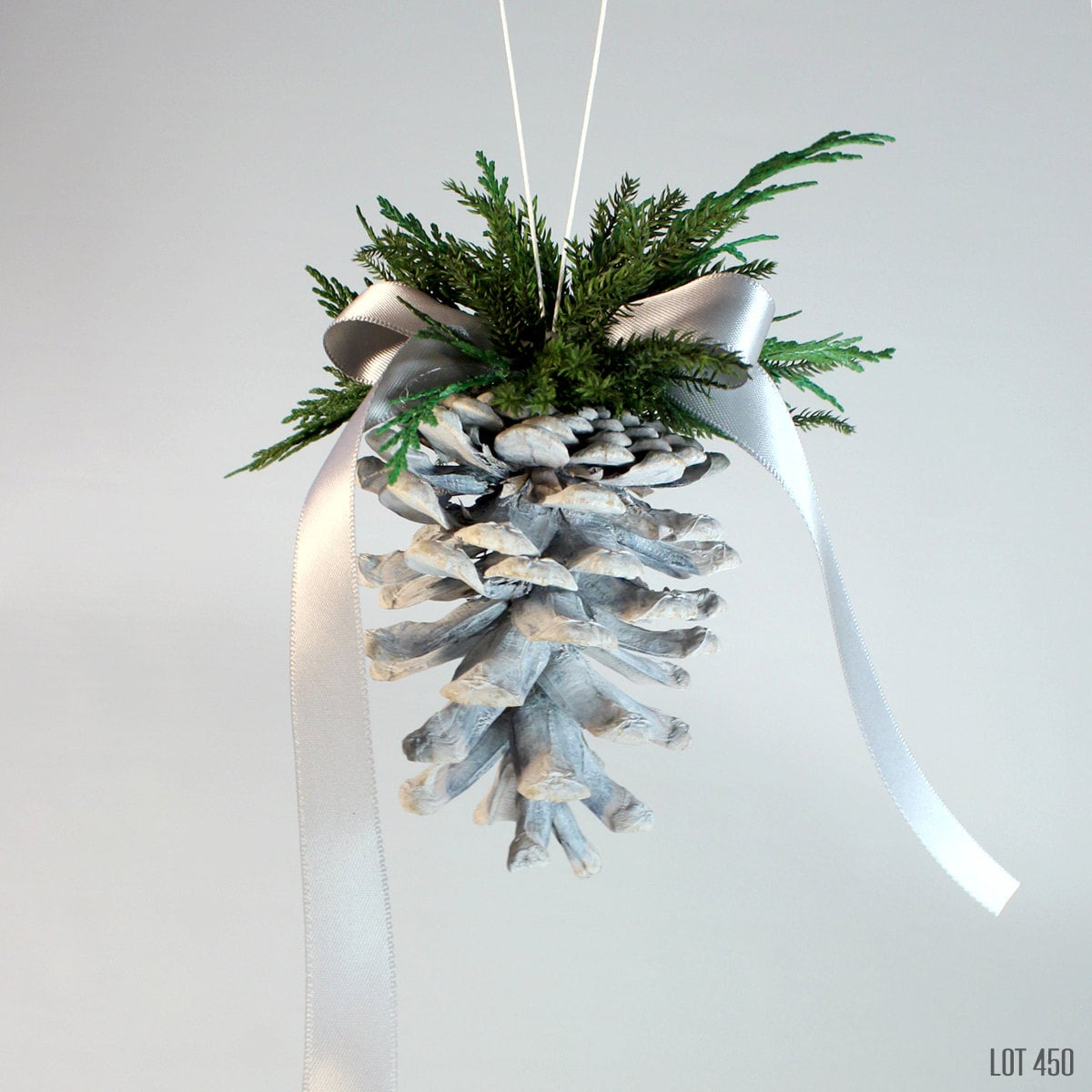 Grey Pine Cone Ornament Christmas Tree Decorations By