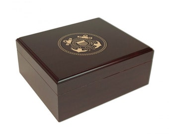 The US Coast Guard Personalized Cigar Humidor