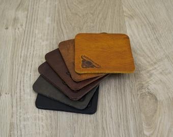 Handmade Leather Coasters (Set of 6)