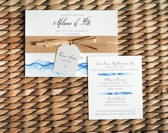 Watercolor Wedding Invitation - Sample