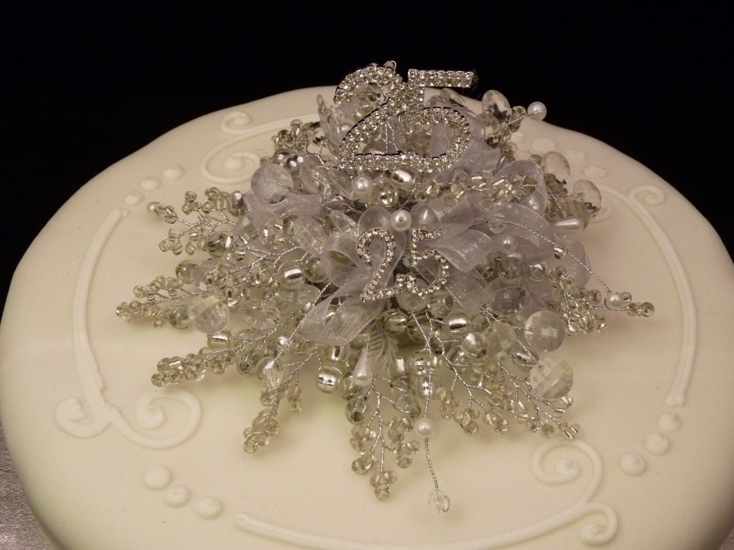 silver wedding cake decorations silver wedding cake decoration silver wedding cake topper 7449