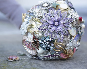 Bridal bouquet - brooch bouquet. Individually made. Brooch bridal bouquet