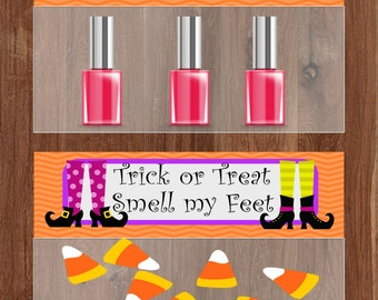 Trick or Treat Smell my Feet bag topper