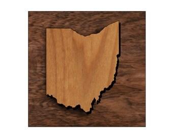 Ohio State Shape Alder Wood finished