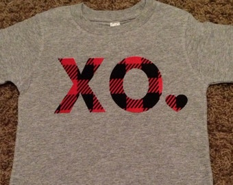 Buffalo Check XO Gray Long Sleeve Shirt