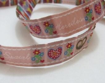 Ribbon width 16 mm - Herzilein & Spatzl - dusky pink