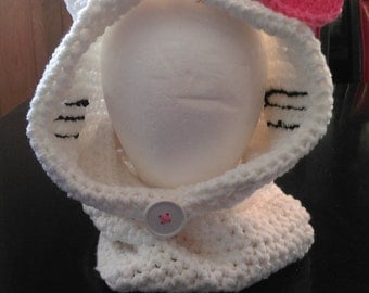 Hello kitty cowl
