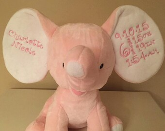 Monogramed Elephant Cubbie - Perfect Baby Gift!!!