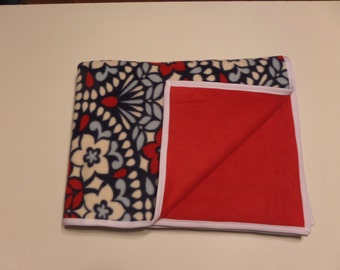 Red, White and Blue Fleece Blanket