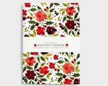 Christmas Notebook, journal, diary, flowers, christmas gift, A6, handmade, stationery, carnet, noel, fleurs, journal intime, papergoods