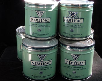 Vintage Similac Baby Formula Can