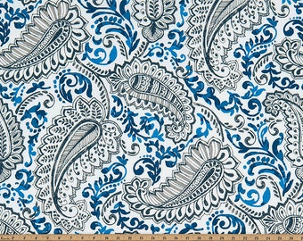 PREMIER PRINT  Shannon Cobalt Outdoor, Pillow Covers, Fabric By The Yard-Minimum 2 yards