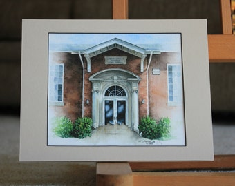 Through the doors, into the original Libertyville High School