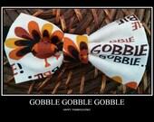 Turkey Thanksgiving Bowtie/Costume/handmade/baby/boys/men