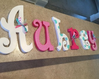 Nurery decor, Nursery wall decor, Hanging nursery letters, nursery letters, baby girl nursery letters, nursery wall letters, nursery decor