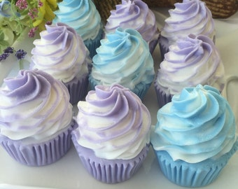 Cupcake Soap Favors - Birthday Party Favors - Bakery Party Favors - Cupcake Shower Favor - Glycerin Soap Favor - Set of 10