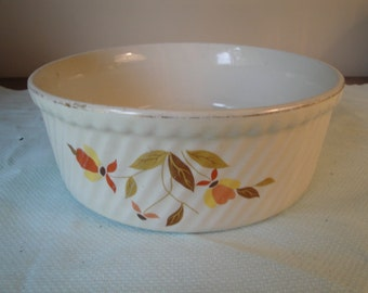 "Jewel Tea Hall Company Autumn Leaf Souffle Baking Casserole Dish 8"" Diameter"