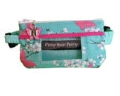 Insulin Pump Pouch Butterfly Lace with butterfly zip charm