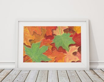 Among the Leaves Print from Pastel Drawing
