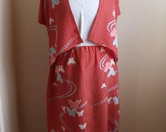 Japanese Kimono Butterfly Top & Skirt Set