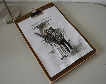 Vintage Wooden Clipboard Masionate BIGGER THAN A4