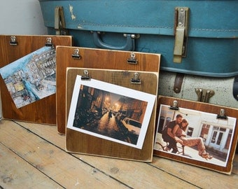 Reclaimed Wood Clipboard Picture Frames Vintage On Your Wall, 24 x 24 x 2cm