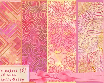 6 Bohemian Papers  (8 x 8 inches.) DOWNLOAD