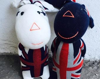 MIRINE Socks Toy Socksdoll UK Flag Bunny DIY Pattern / Template