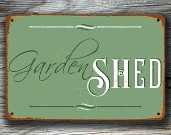 GARDEN SHED SIGN, Garden Shed Signs, Vintage style Garden Shed Sign, Garden Shed Decor, Garden Decor, Garden Decorations, Garden Shed