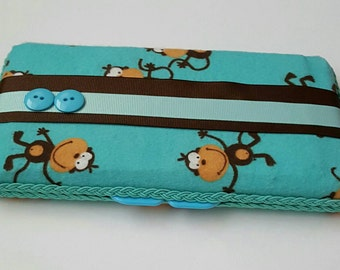 Monkey Wipe Case, Wipe Case, Baby Wipe Case, Boutique Wipe Case
