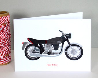 Norton Motorbike Birthday Card