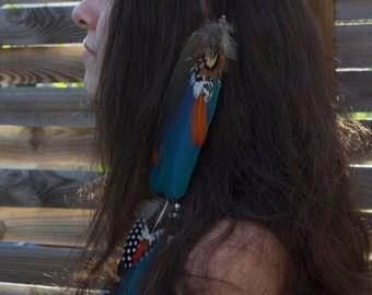 """feather hair jewel """"Etu"""""""
